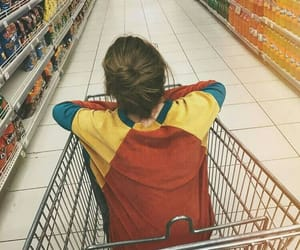 girl, grunge, and supermarket image