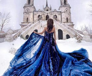 fashion, blue, and winter image