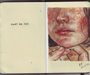 sad, art, and die image