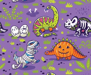 dino, dinosaur, and Halloween image