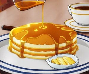 food, anime food, and pancakes image