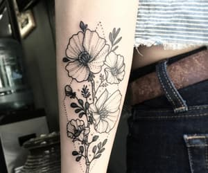 flores, tatto, and tatuajes image