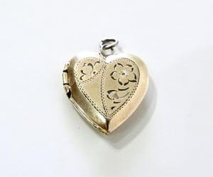 engraved, keepsake, and flower locket image