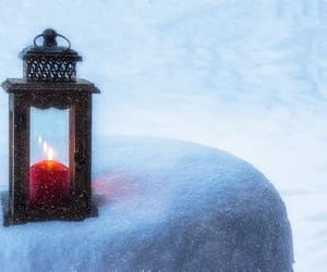 candle, cold, and light image