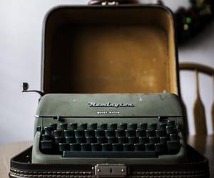 typewriter, vintage, and writing image
