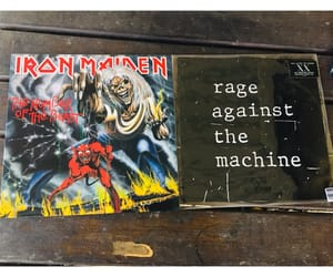 iron maiden, vinyls, and music image