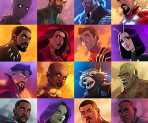 art, colour, and Avengers image