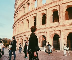 colloseum, colosseum, and girl image