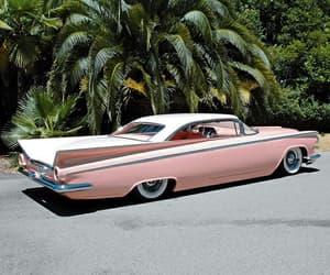 car, pink, and vintage image