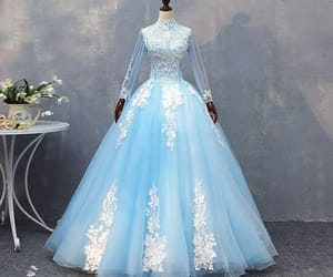 ball gown, beading, and prom dresses image