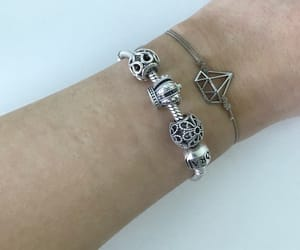 bracelet, jewelry, and pink image
