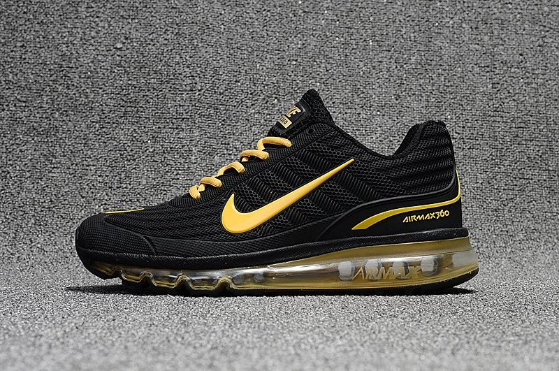 New Release Nike Air Max 360 KPU In Black Gold For Sale