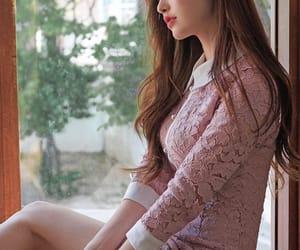 asian girl, beautiful, and brown hair image