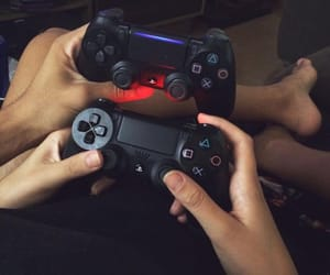 games, girl and boy, and ps3 image