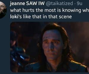 tom hiddleston, loki laufeyson, and infinity war image