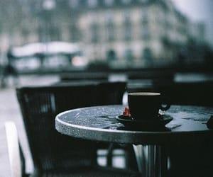 coffee, rain, and alone image