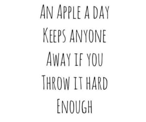 funny, quotes, and apple image