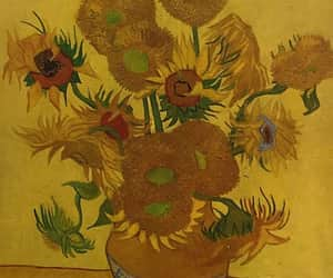 sunflower, art, and yellow image