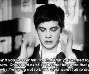 logan lerman, the perks of being a wallflower, and quotes image