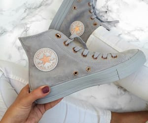 shoes, converse, and grey image