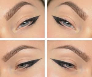 beautiful, eyebrows, and lashes image