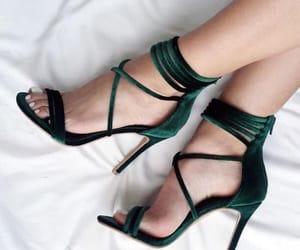 aesthetic, green, and heels image