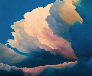 clouds, painting, and art image