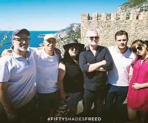 Jamie Dornan, dakota johnson, and fifty shades freed image