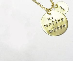 gold necklace, handmade necklace, and no matter what image
