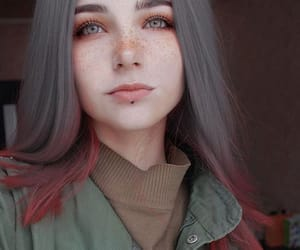 girl, hair, and freckles image
