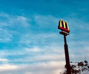 blue, McDonald's, and photography image