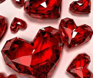 diamond, background, and heart image