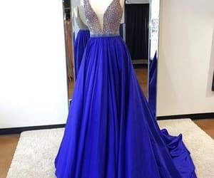 royal blue prom dress image