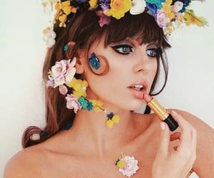 60s, bangs, and beauty image