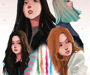 art, girls, and lisa image