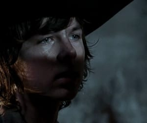 prison, chandler riggs, and zombies image