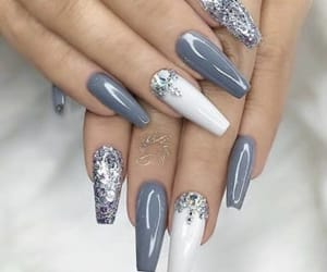 gray, nails, and white image