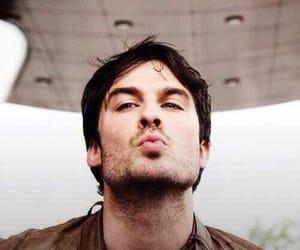 ian somerhalder, kiss, and damon salvatore image
