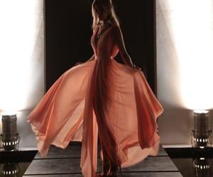 fashion, maxi dress, and prom dress image
