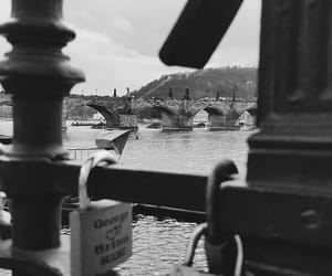 black and white, photography, and prague image