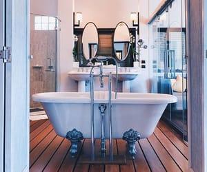 bath tub, bathroom, and goals image