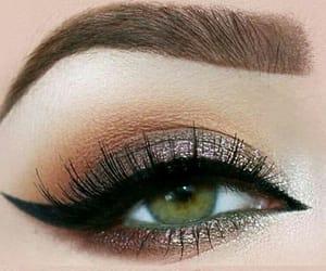make up, green eyes, and green liner image