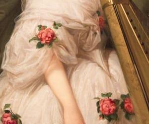 art, dress, and rose image