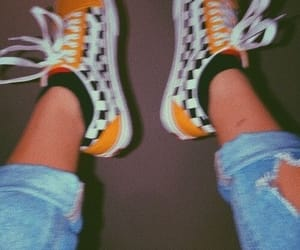 vans, yellow, and shoes image