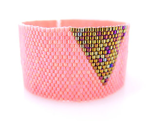 beaded, triangle, and coral pink image