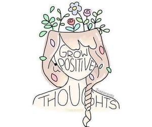 positive, quotes, and flowers image