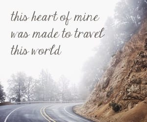 travel, heart, and road image