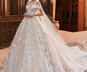 wedding, bridal, and wedding dress image