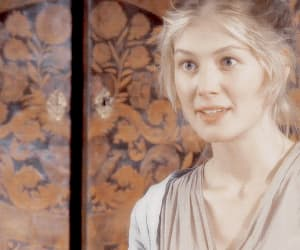 blonde, rosamund pike, and gif image