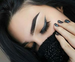 makeup, beauty, and black image
